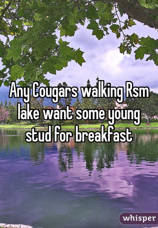 Any Cougars walking Rsm lake want some young stud for breakfast
