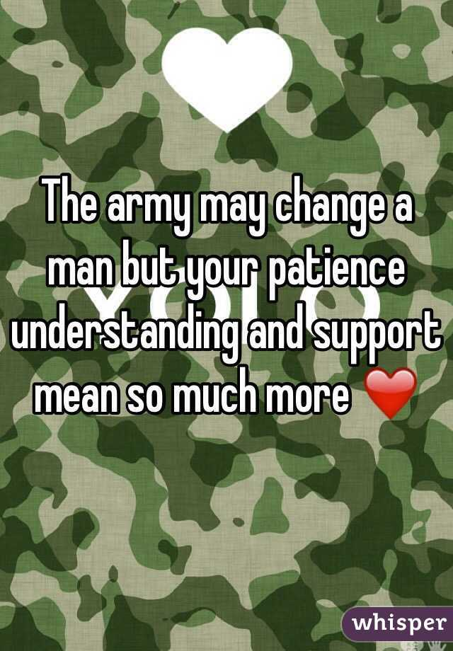 The army may change a man but your patience understanding and support mean so much more ❤️