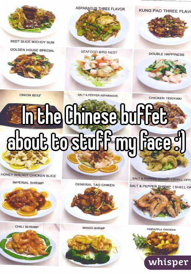 In the Chinese buffet about to stuff my face :')