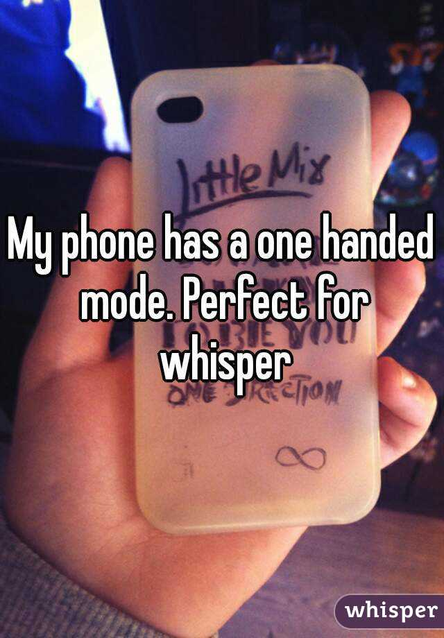 My phone has a one handed mode. Perfect for whisper