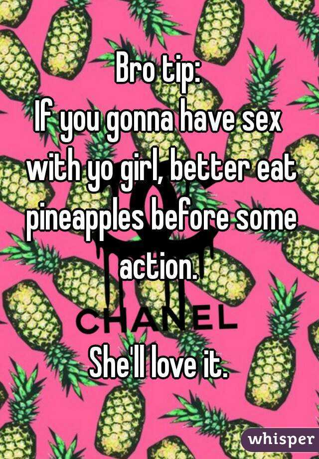 Eating pineapple before sex
