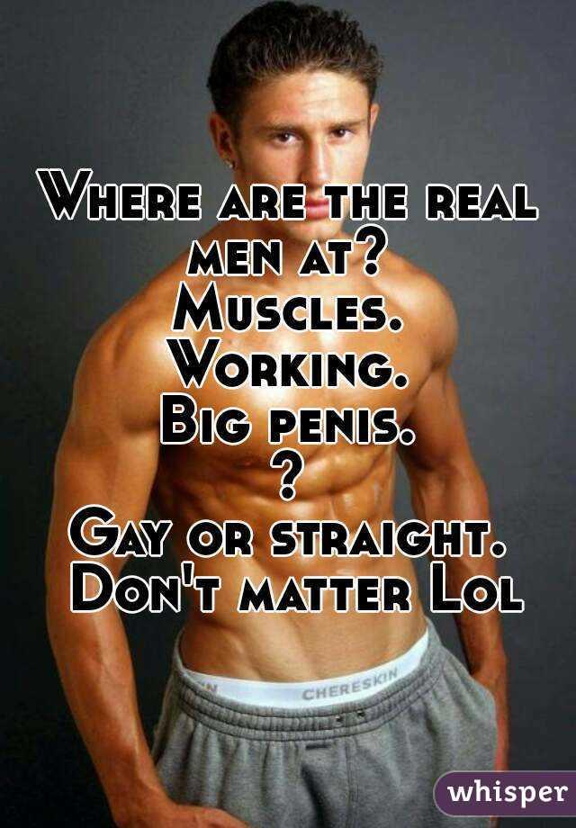real men gay