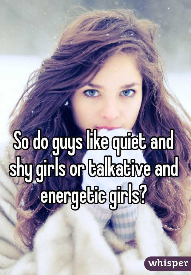 Do shy guys like shy girls