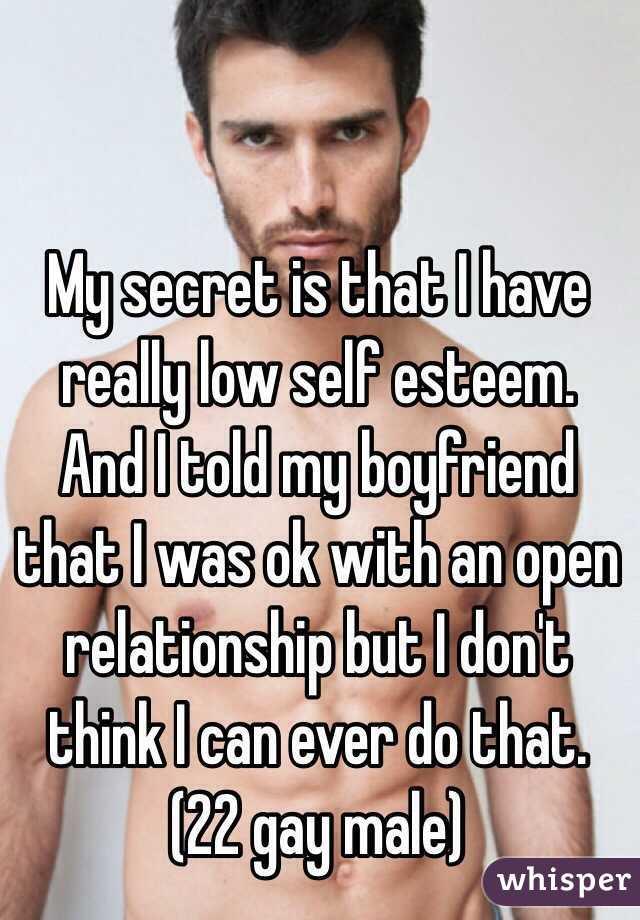 Men with low self esteem in relationships