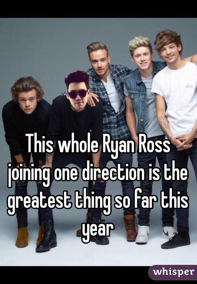 This whole Ryan Ross joining one direction is the greatest thing so far this year