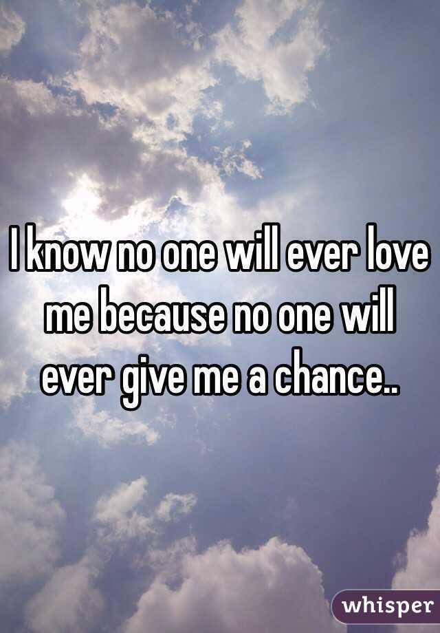 No One Ever Will !!
