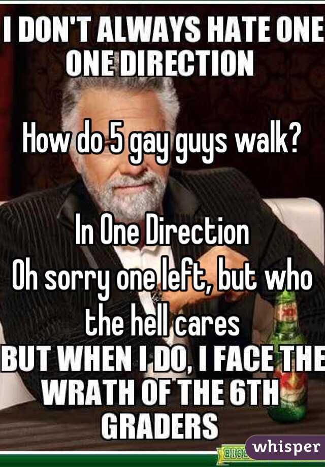 How do gay guys walk