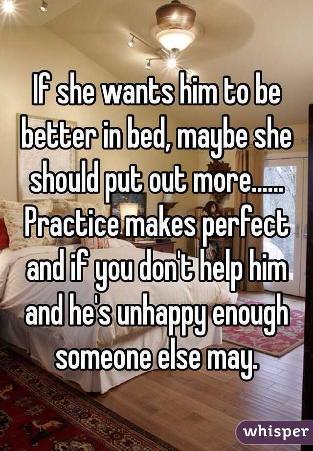 how to be better in bed for him