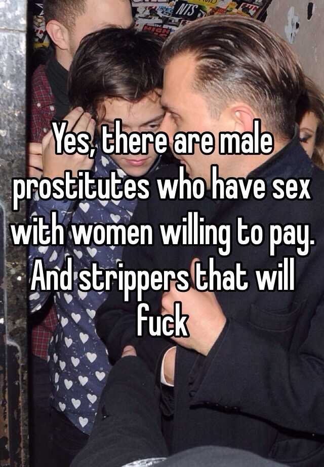 Women willing to pay for sex