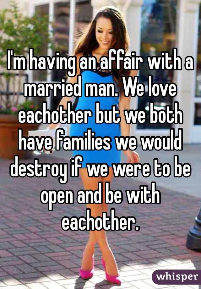 why would a married man have an affair