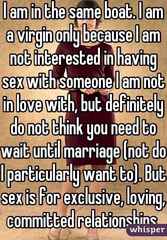 Not a virgin sex before marriage