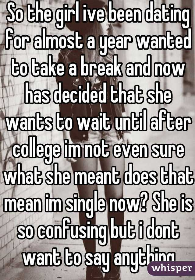 not dating until after college
