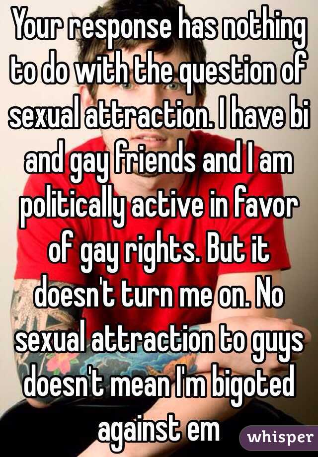 Sexually attracted to gay friend