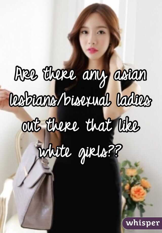 White and asian lesbians photo