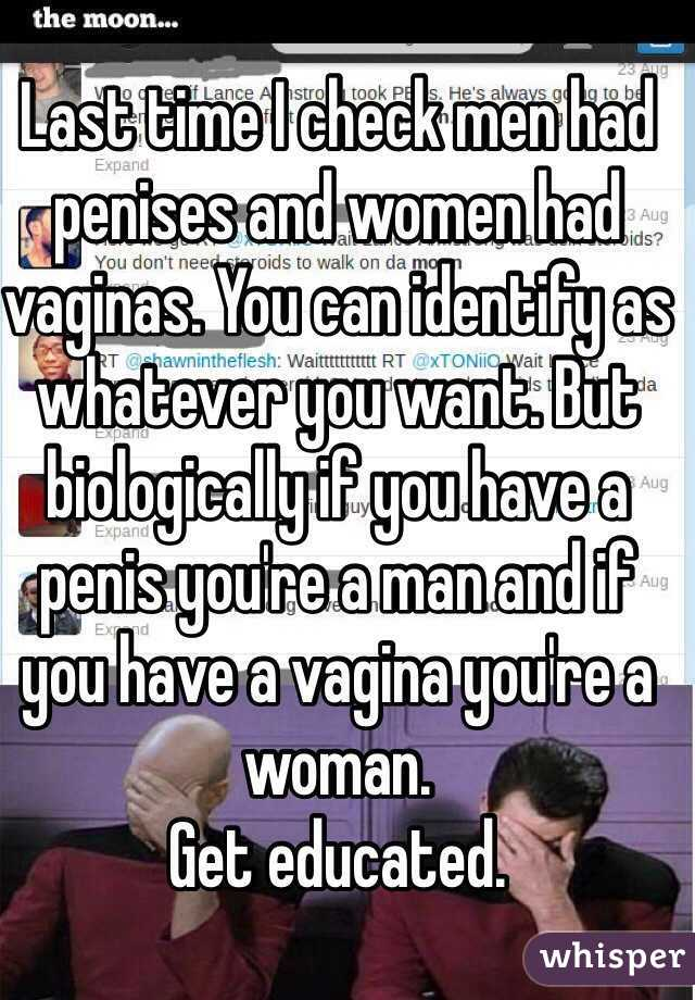 Due time women w penises and vaginas accept. The