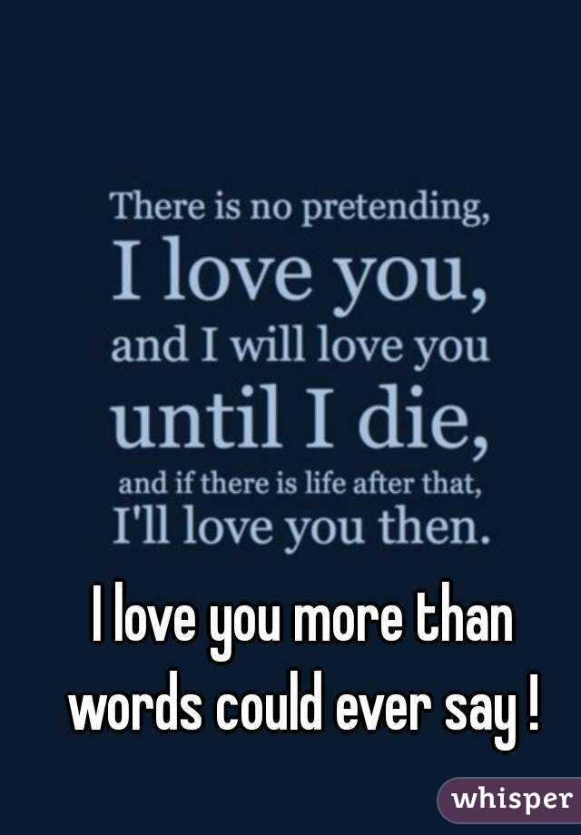 What To Say After I Love You