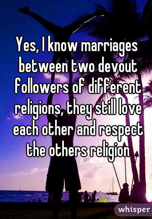 marriage between two different religions