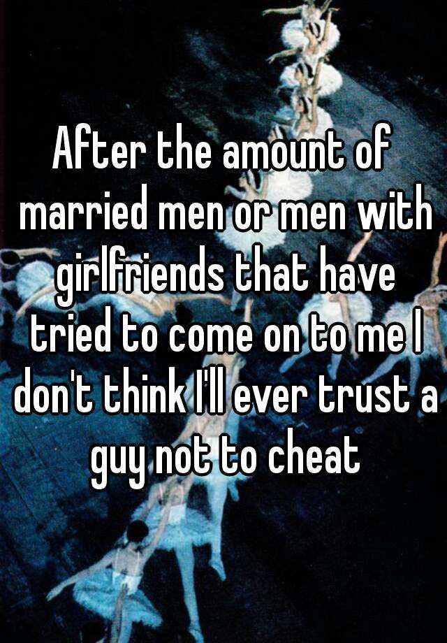 Married men with girlfriends