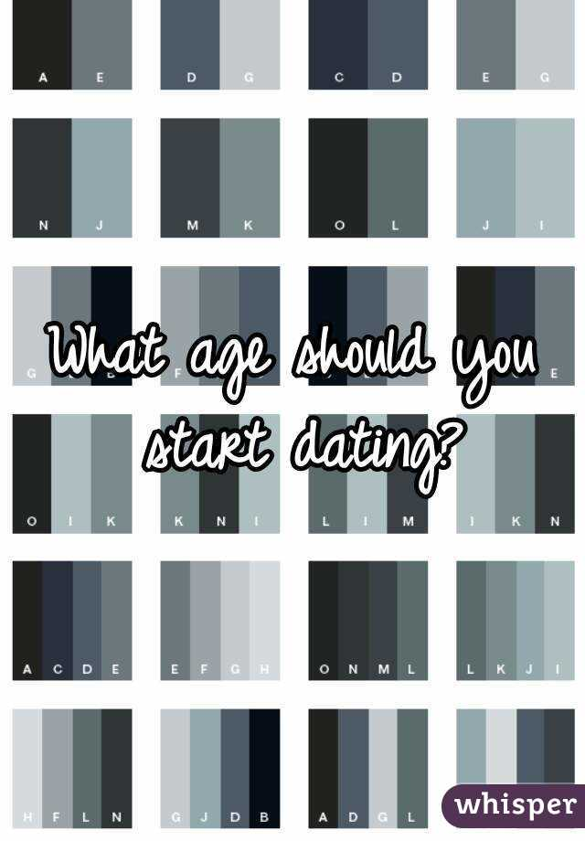 What Age Should You Start Dating