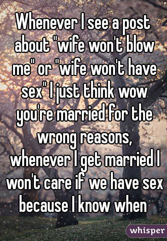 What to do when wife wont have sex