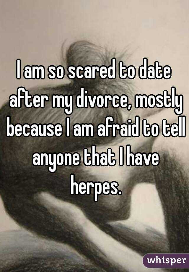 dating after divorce with herpes