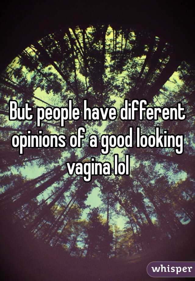 Good looking vagina