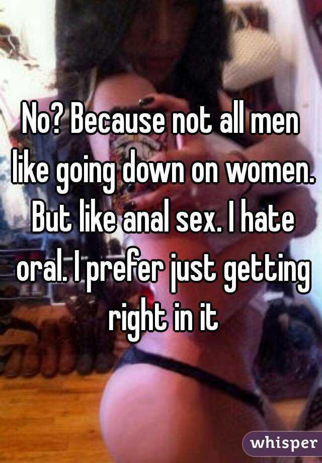 Why men prefer anal sex