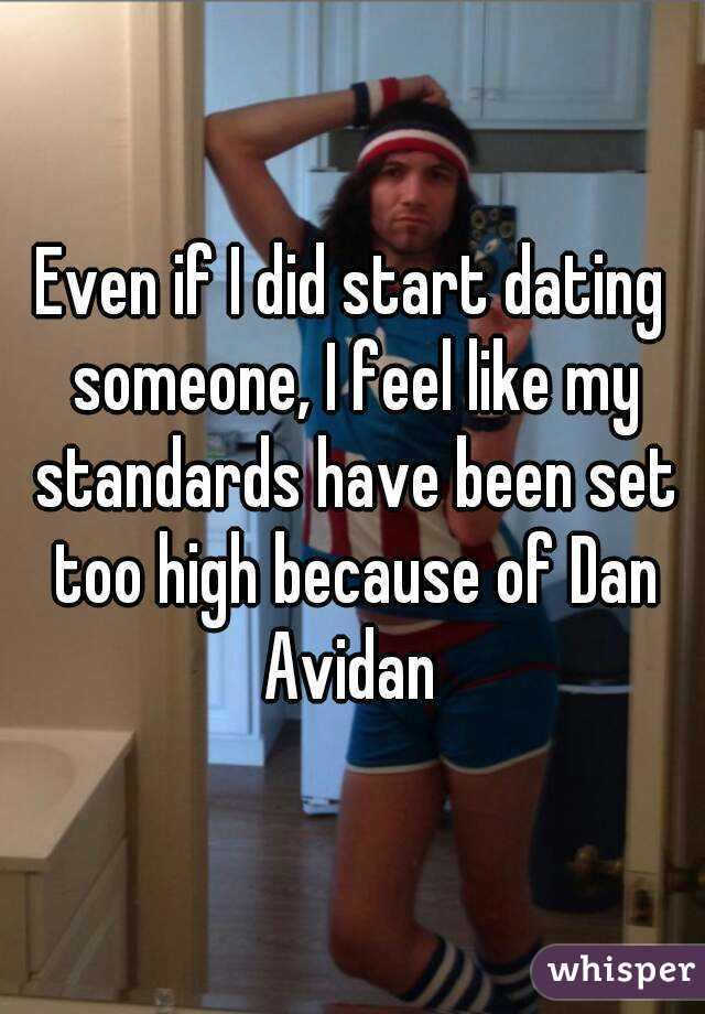 Standards dating someone new