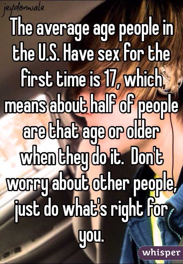When can i have sex age