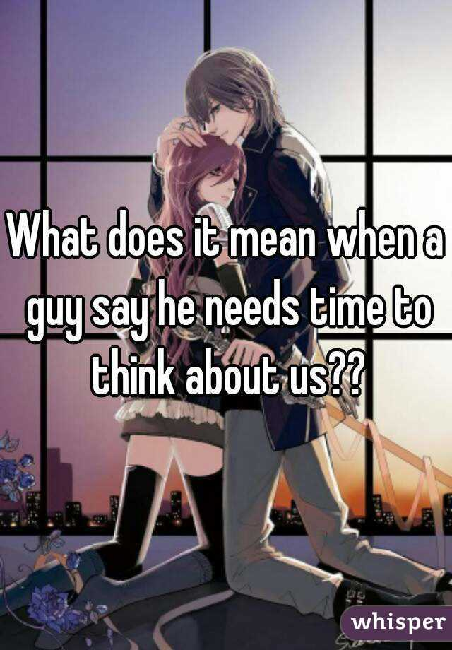 what does the guy say