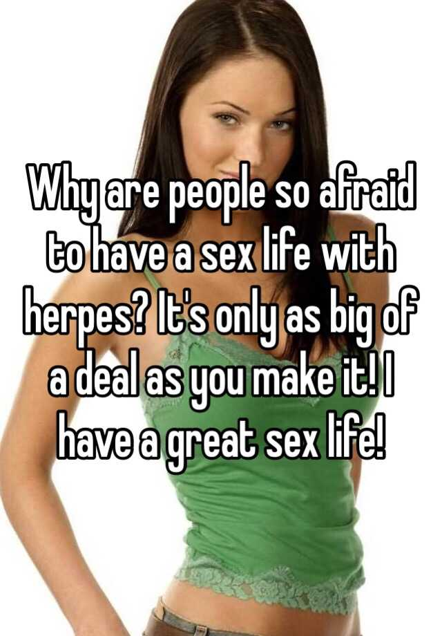 Sex life with herpes