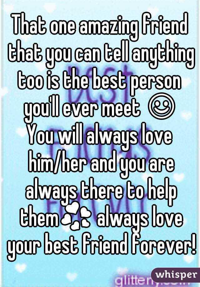 an amazing friend