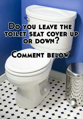 Do you leave the toilet seat cover up or down? Comment below
