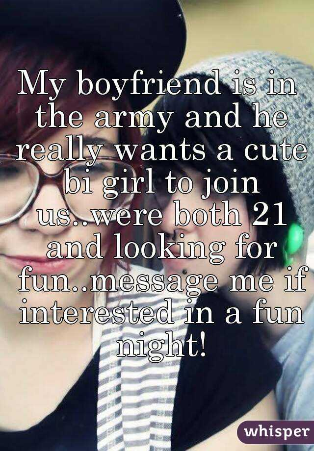 Boyfriend joining the army