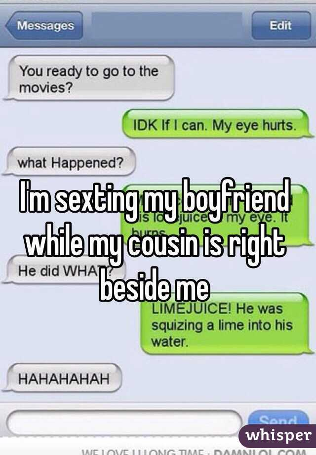 Sexting with my boyfriend