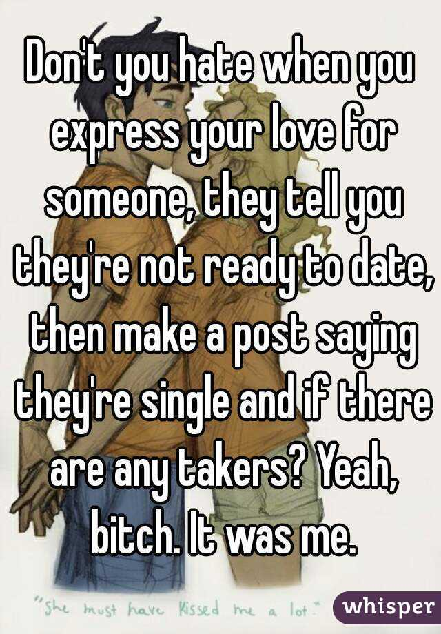 If you are dating someone are you single