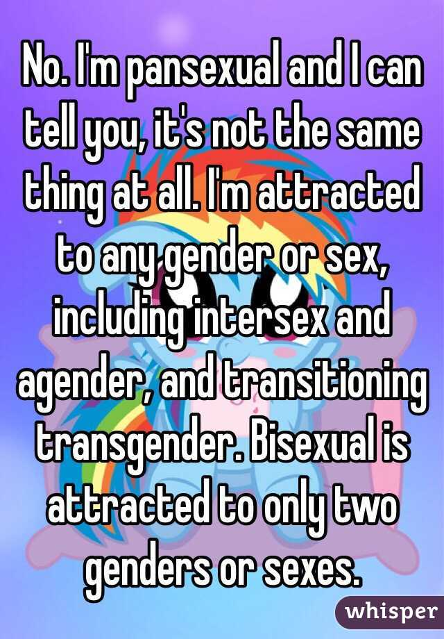 Isnt pansexual and bisexual the same thing