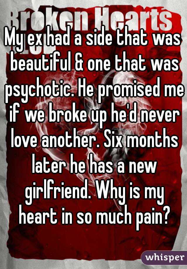 My ex had a side that was beautiful & one that was psychotic