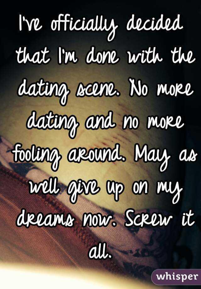 Screw dating