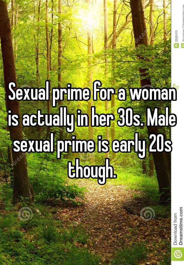 When is a woman in her prime sexually