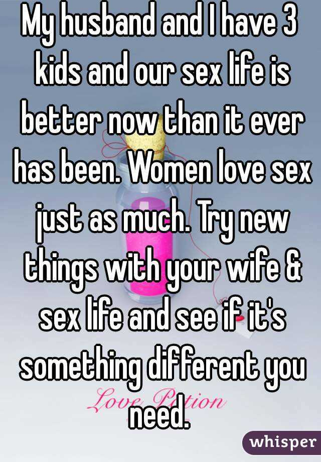 husband and wife sex life