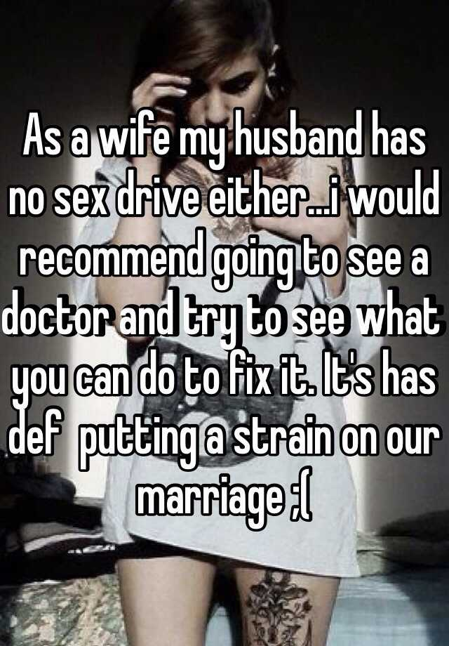 Lack of sex from husband