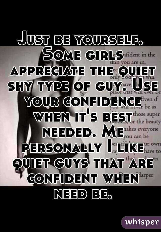 shy and quiet guys