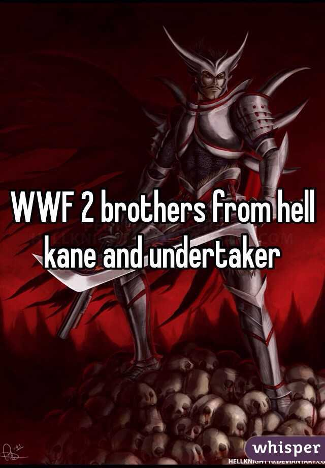 WWF 2 brothers from hell kane and undertaker