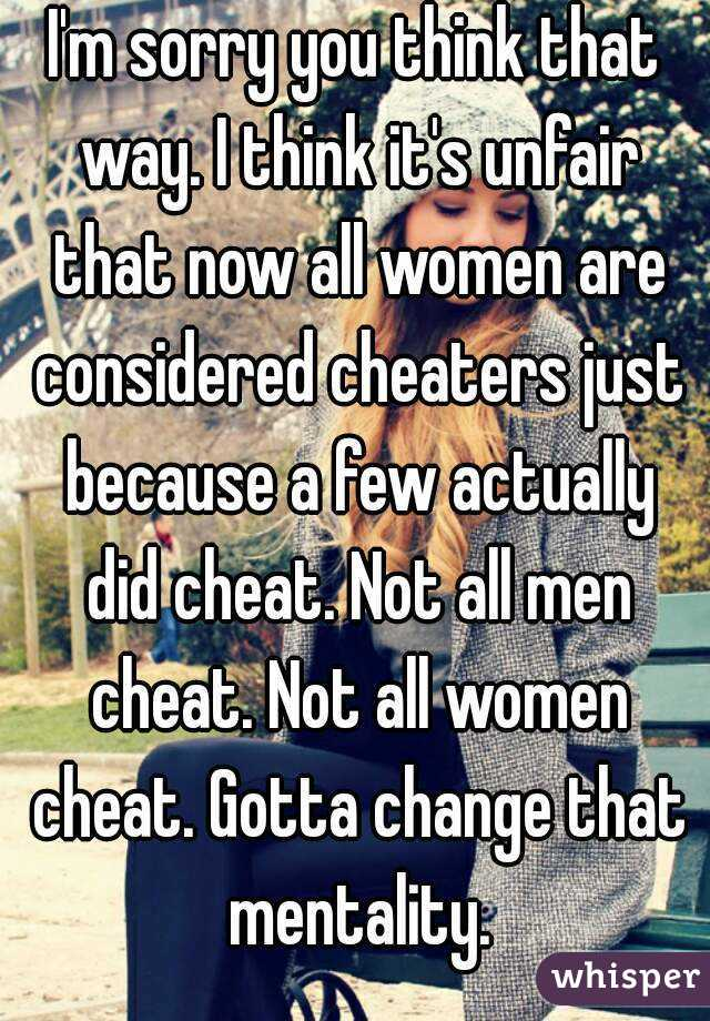 Cheaters mentality