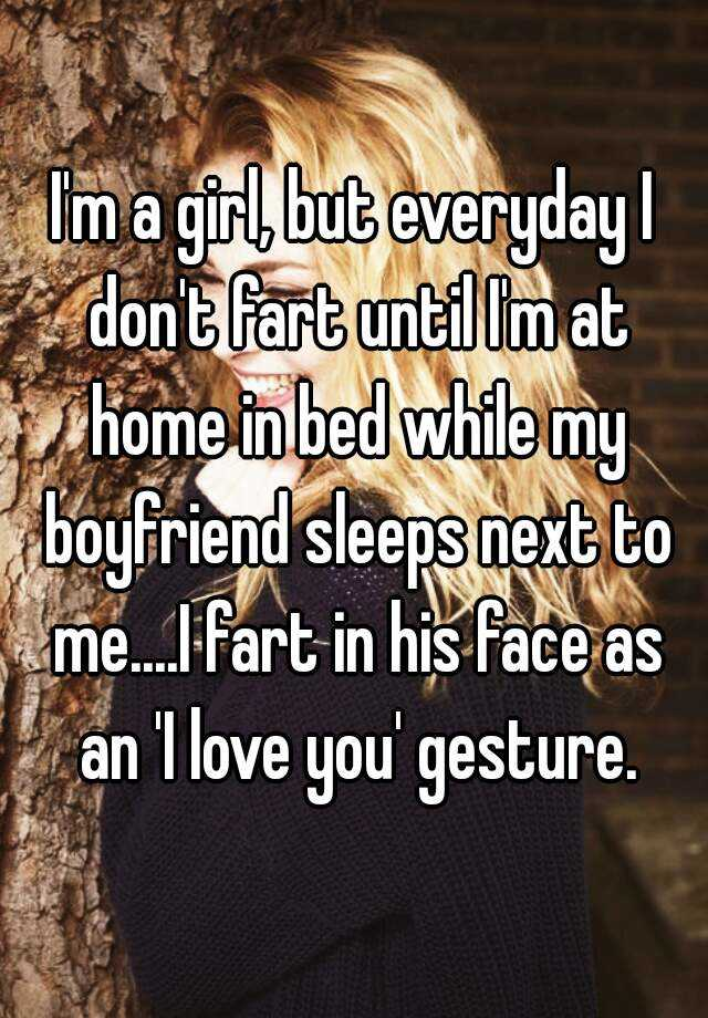 Girl farts in boyfriends face