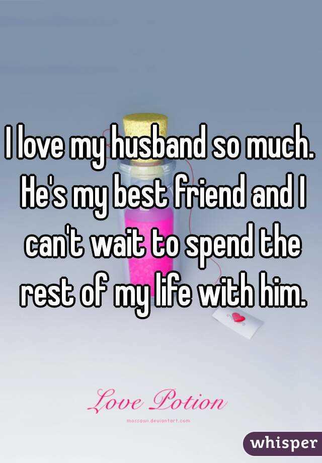 how much i love my husband
