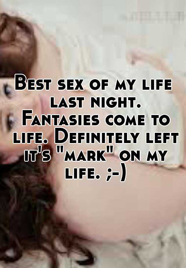 Sex fantasies come to life