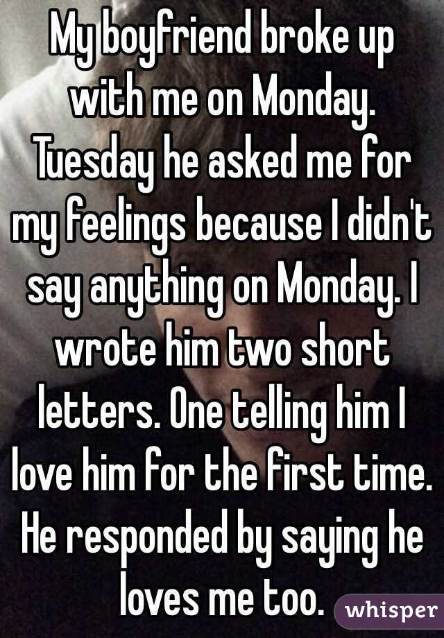 a letter to my boyfriend about my feelings