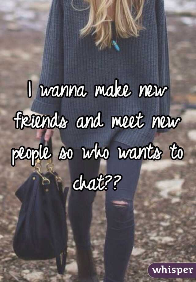 how to find new people